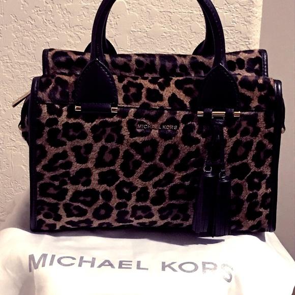 Michael Kors Handbags - MICHAEL KORS Geneva Satchel Hair Calf Handbag